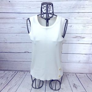 Cable & Gauge White & Gold Sweater Tank